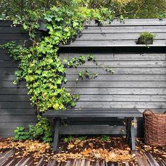 """Susann Larsson on Instagram: """"Lite mysigt är det ju ändå med hösten och alla löv som faller! #hemmahosmig #mygarden #trädgård #trädäck #höst #enplatsisolen…"""""""