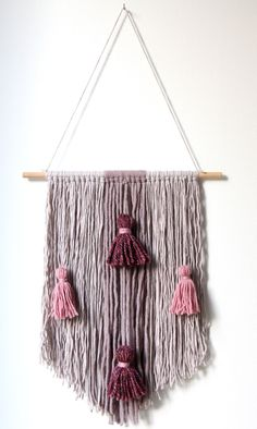 Yarn and tassels wall hanging by Mowakke on Etsy