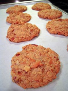 Almond Toffee Oatmeal Cookies - almonds, toffee bits and oatmeal