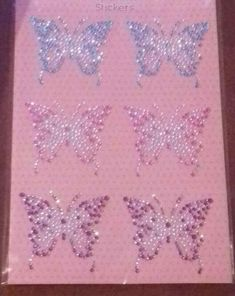 6 x Butterfly rhinestone sequin stickers craft card making  blue  pink purple  #Unbranded Glitter Tattoo Set, Pink Purple, Blue, Fundraising, Charity, Stencils, Craft Projects, Card Making, Sequins