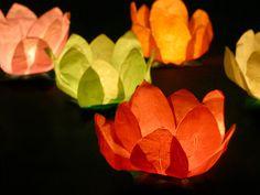 Lampiony wyjątkowe- bo unoszące się na wodzie!