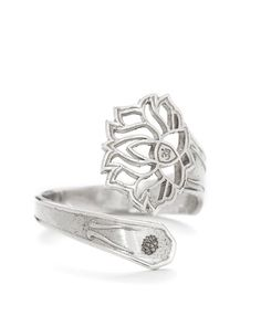 Great Alex and Ani Lotus Peace Petals Spoon Ring