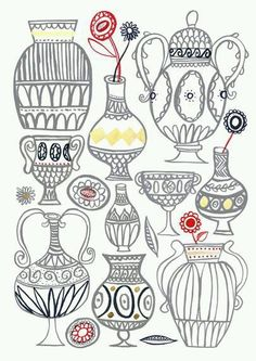 Great vase doodles and shapes