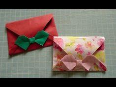 【実用使い】折り紙一枚でふたの閉まるリボン付き封筒 - YouTube