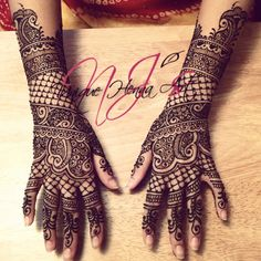 Traditional Indian bridal henna 2013 © NJ's Unique Henna Art | Bridal henna mehndi.
