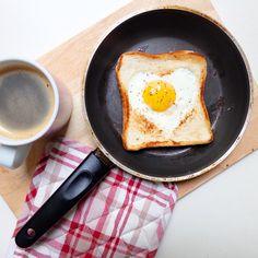 Heart breakfast on heart's day.