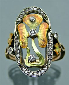 Art Nouveau, Art Deco, Arts & Crafts Jewelry : Jewellery : art deco jewelry antique ring diamonds rings jewelry