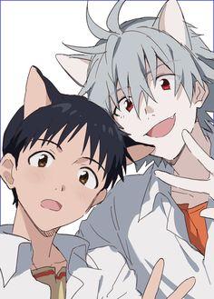 Anime Cat Boy, Anime Guys, Manga Anime, Anime Art, Evangelion Kaworu, Neon Genesis Evangelion, Neko, Image Manga, Aesthetic Anime