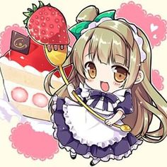 Strawberry girl chibi...KAWAII!!!!!!>o<