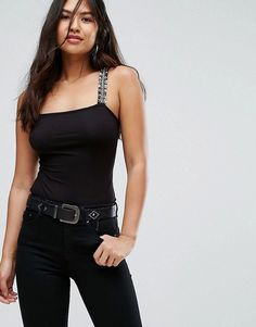 0b6b4547ae2ac ASOS Body with Embellished Strap Shoulder - Black Lavish Alice