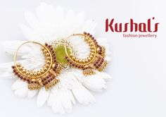 #Silver #TempleJewellery from #Kushals #FashionJewellery #Earrings Design No 38080