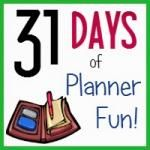 Half size hourly planner for the day  31 Days of Planner Fun Introduction!