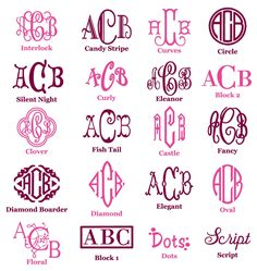 Monograms Etc. This site has a lot of great stuff  Personalized and Monogrammed Gifts, Gifts For A New Home, Baby Gifts, Monogrammed Apparel