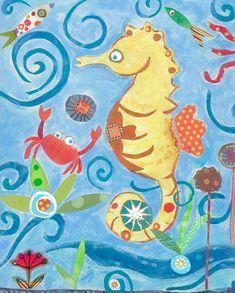 Sea Horse by pcartercarpin on Etsy, $24.00