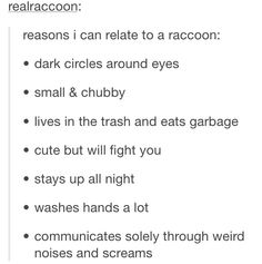 i am a raccoon @zoemegannn