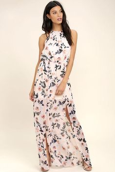 816e21608c1  Lulus -  Lulus Ali  amp  Jay Al Fresco Blush Floral Print Maxi Dress