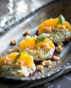 "Beets with Arugula ""Cheese"" and Orange"