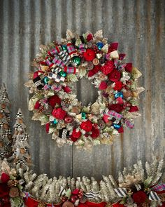 Large Holiday Frost Christmas Wreath