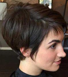 30 Best Short Haircuts for Fine Hair: Short Brown Hair Pixie; Pixie Bob Haircut, Short Pixie Haircuts, Short Hairstyles For Women, Hairstyles Haircuts, Short Hair Cuts, Pixie Cuts, Layered Hairstyles, Bob Haircuts, Haircut Short