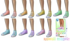 """kawaiimagpie: """" Sims 4 Custom Content Pastel Canvas Hi-Tops for Masculine sims - compatible with with June 2016 gender patch! I need all the kawaii CC, but there's not much out there for Male sims! So I took matters in to my own hands and I'm..."""