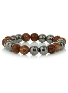 Round Ball Mix Bead Stretch Bracelet - $15