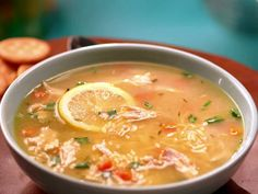 Chicken Lemon Orzo Soup Recipe : Jeff Mauro : Food Network - FoodNetwork.com