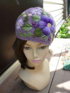 шапка – купить или заказать в интернет-магазине на Ярмарке Мастеров | ручная авторская работа.ручная объёмная вышивка.