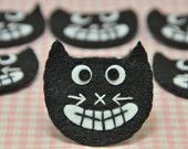 Cute Halloween Black Felt Cat