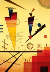 Merry structure, by Wassily Kandinsky
