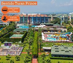 Sentido Turan Prince Side / Gündoğdu mevkinde, tam bir aile oteli olarak ön plana çıkıyor. ERKEN REZERVASYON fırsatları devam ediyor!  Bilgi ve Rezervasyon:  ☎ 0212 211 40 20 - 21