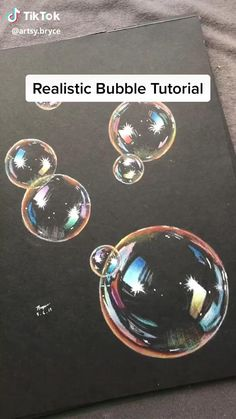 How to draw bubbles with colored pencils So pretty 3d Art Drawing, Art Drawings Sketches Simple, Pencil Art Drawings, Drawings On Black Paper, Drawings With Colored Pencils, Horse Drawings, Art Painting Gallery, Color Pencil Art, Diy Canvas Art