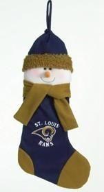 "St. Louis Rams 22"" Snowman Stocking"