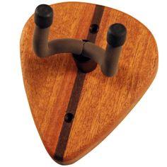 Wooden Wall Hanger for Guitar - Mahogany Guitar Pick