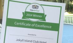 The Jekyll Island Club Hotel does it again! Receiving @Tripadvisor's Certificate of Excellence. Learn more on our blog post.