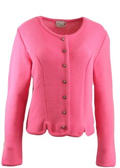 Trachten Dirndl Strickjacke Huber Mode pink