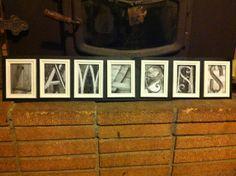 last name letter art