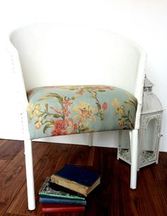 Vintage Painted Lloyd Loom Chair by LittleVintageHome on Etsy.