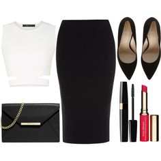 Elegant ❤ by elizabeth-0716 on Polyvore featuring BCBGMAXAZRIA, Roland Mouret, MICHAEL Michael Kors and Clarins