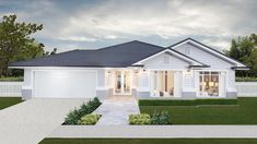 Lisbon 31 with our affordable Hamptons facade on display at Springfield Rise. Click the image to see the design. House Plans Australia, House Exterior, Luxury House Plans, Eco House Plans, Melbourne House, Australia House, Hamptons House Exterior, House Designs Exterior, Exterior House Colors