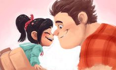 Wreck-It-Ralph! by nijyu-maru on deviantart wreck-it ralph r Arte Disney, Disney Fan Art, Disney Love, Disney Magic, Disney Pixar, Disney Characters, Disney Animated Movies, Pixar Movies, Dreamworks