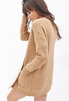 Oversized Honeycomb Knit Cardigan   FOREVER 21 - 2000067436