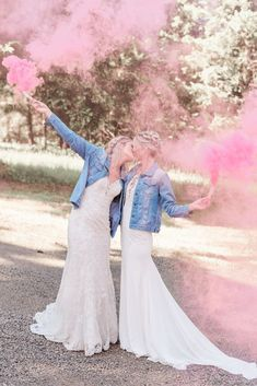 Pink Boho LGBTQ Winery Wedding Inspiration – Sierra Rose Photography 42  Blush pink details, braided hairstyles