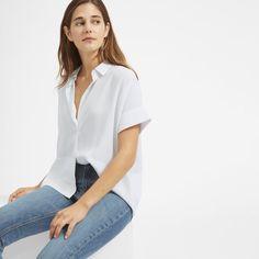 Women's Silk Short-Sleeve Square Shirt   Everlane