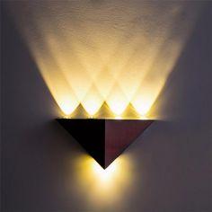 110 220v 5w Aluminum Triangle Led Wall Light Applique Murale Luminaire Bedroom Light Espelho Bedroom Lamp Lampe Murale Kinkiety7