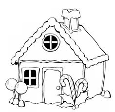 Coloring pages : Gingerbread