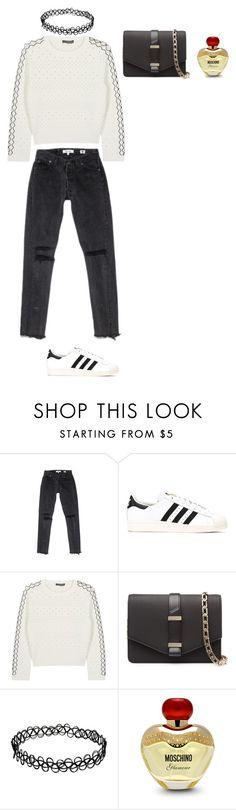 """Sans titre #255"" by leoniemika on Polyvore featuring mode, adidas, Alexander McQueen, Victoria Beckham et Moschino"