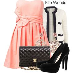 """""""Elle Woods - Legally Blonde"""" by thebroadwaywardrobe on Polyvore"""