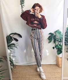 2a2a0c7181f Funky trouser appreciation 🧡 all items worn in these looks are vintage! I  sell similar things over on my Depop if ur curious ✨✨✨✨