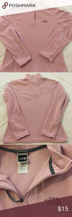 North Face Fleece Pull-over Used but still in deceit condition. No holes or stains just normal wear from washing. North Face Tops Sweatshirts & Hoodies