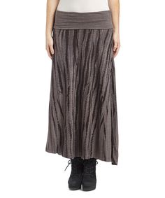Look what I found on #zulily! Brown Abstract Maxi Skirt by simpli-U #zulilyfinds